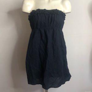 J.Crew Linen Ruffle Top Tube Dress